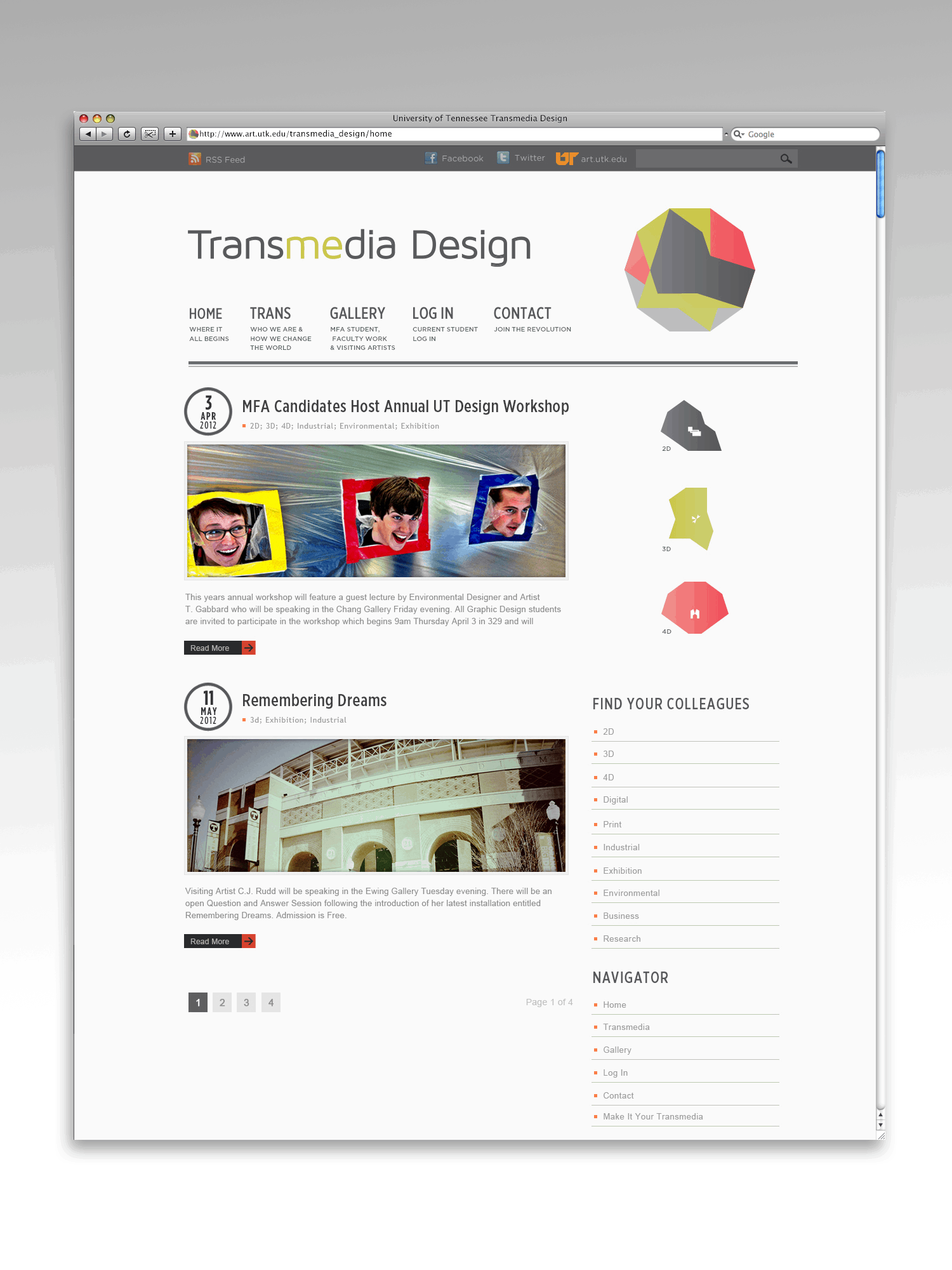The University of Tennessee Transmedia Design